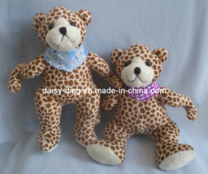 Plush Teddy Bear with Leopard Color Printing Material pictures & photos