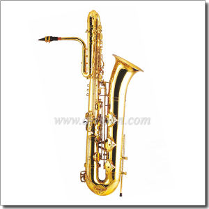 Music Instrument Bb Key Yellow Brass Bass Saxophone (SP3061G) pictures & photos