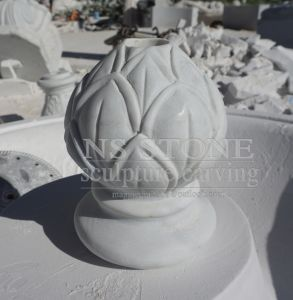 Light Rosetta Marble Carved Two Tiered Water Fountain in Garden Mf063 pictures & photos