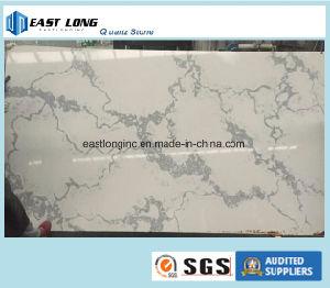 Beautiful Calacatta Color Artificial Quartz Stone Slab for Australia Market pictures & photos
