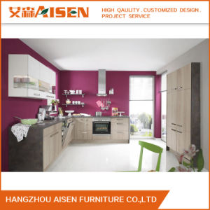 Simple Design Melamine Board Modern Kitchen Cabinet pictures & photos
