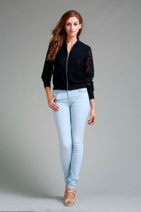 Women′s Lace Long Sleeve Jacket