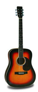 "38"" Acoustic Guitar with Semi-Enclosed Guitar Tuning Keys (TLFB38A-2)"