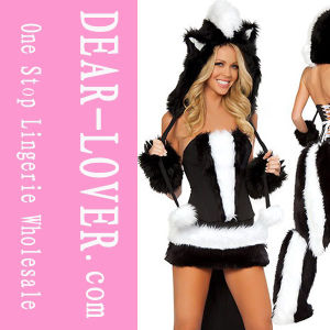 Sexy Halloween Skunk Costume (LC8518) pictures & photos