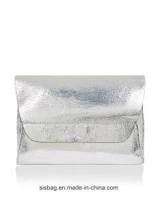Designer Metalic Clutch Bag Cracking Pattern PU Evening Bag pictures & photos
