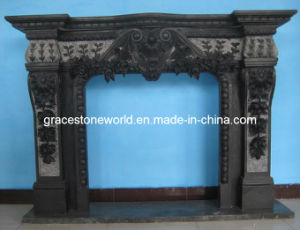 Black Stone Carving Fireplace for Home Use (GS-FF-129) pictures & photos