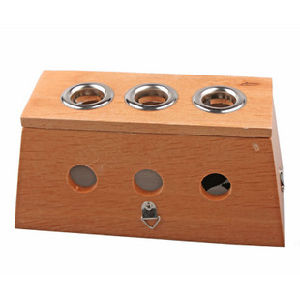Wood Moxa Box - Three Holes pictures & photos