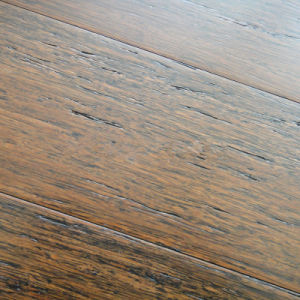 Gunstock Wire-Brushed Strand Woven Bamboo Flooring pictures & photos