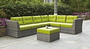 6PCS PE Rattan Sofa Set
