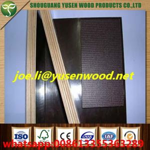 18mm Poplar Core Brown and Black Film Faced Plywood pictures & photos