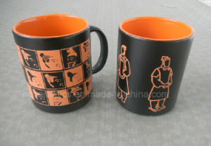 11oz Spray Color Mug with Laser Logo, Ceramic Souvenirs and Present pictures & photos