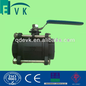 API Carbon Steel 2PCS Threaded Ball Valve with 1000wog