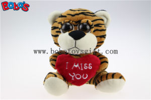 """5.9"""" Plush Tiger Big Eyes Toy with Heart Pillow for Valentines Day Bos1177 pictures & photos"""
