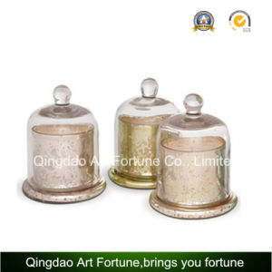 Hot Sale Glass Candle Cylinder Jar with Cloche Home Decor pictures & photos