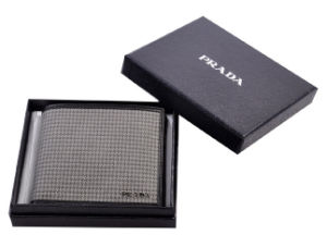 Square Black Paper Gift Box for Brand Wallet (GB-031) pictures & photos