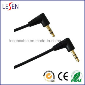 Stereo Audio Cable, 3.5mm Stereo Male Right Angle Plug to 3.5mm Stereo Male Right Angle Plug pictures & photos