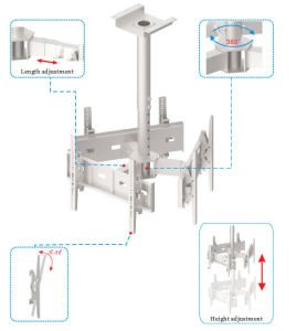 TV Ceiling Wall Mount / Bracket 3-Screens Vesa Max. 600*400 pictures & photos