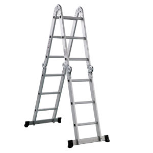 Multi Purpose Aluminum Frame Ladder with Safe Lock Steel Hinges pictures & photos