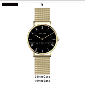 Promotion Watches Mesh Band Fashion Men′s Lady Simple Wrist Watch pictures & photos