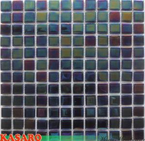 Iridescent Crystal Glass Mosaic Tile (KSL8053)