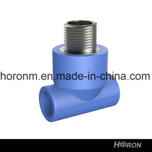 Water Pipe-PPR Fitting-PPR Male Thread Tee-Blue PPR Male Thread Tee-PPR Thread Tee-Tee