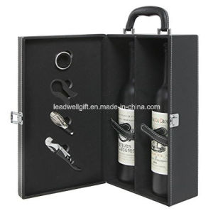 2 Bottle Top Handle Travel Wine Carrier Case Wine Accessory pictures & photos
