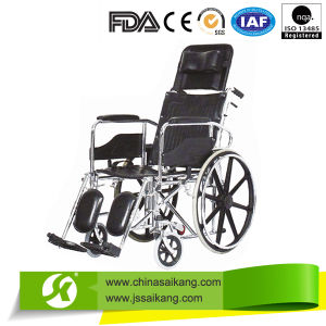 Steel Manual Wheelchair for Disabled People with Competitive Price pictures & photos