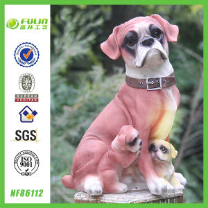 Hot Hot Hot Handicraft Family Mangy Dog Statue (NF86112)
