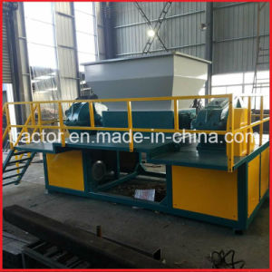 Double Shaft Wood/Tire/Metal/Plastic/Paper/Foam/ Waste Shredder Machine pictures & photos