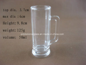 50ml Mini Beer Stein with Handle, Mini Glass Mug