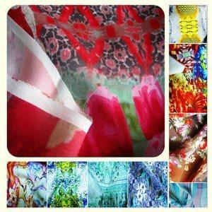 Digital Printed Silk Charmeuse Satin Fabric for Dress