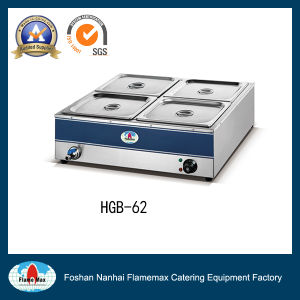 Stainless Steel Gas Bain Marie Countertop for Restaurants (HGB-62) pictures & photos