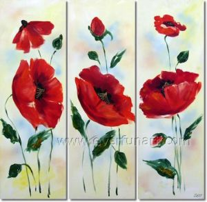 Handmade Blossom Flower Group Oil Painting (FL3-158) pictures & photos
