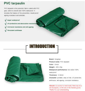 Waterproof Sunshade PVC Plastic Tarpaulin for Covering pictures & photos