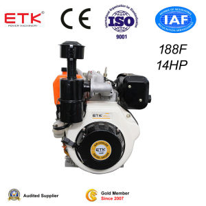 Diesel Engine with Oil Bath Air Fliter (14HP) pictures & photos