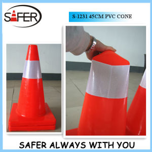 18inch (45cm) Orange Soft PVC Traffic Cone pictures & photos
