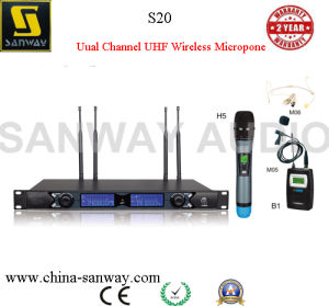 S20 Dual Channel High Sensitive Wireless Microphone pictures & photos
