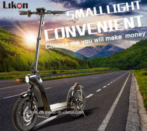 Latest Design Folding Scooter (JIEXG) with 48V, 10.8ah, 500W High Speed Brushless Motor, 30-40km/H, 55km Far Distance Capacity Electric Scooter.