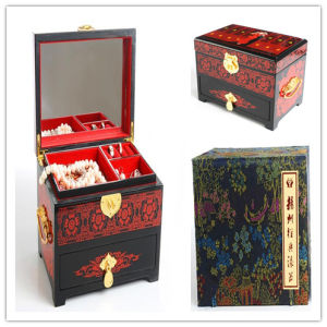 Lacquer Painting Wedding Wooden Jewelry Box Set pictures & photos