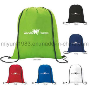 Customized Polyester Drawstring Bag with Log M. Y. D-039 pictures & photos