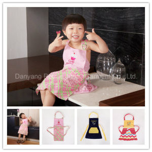 Children′s Girls Fun Pretty Cupcake Pink Cotton Cooking Baking Apron