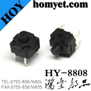 Tact Switch with 8*8*8mm Waterproof 4 Pin DIP (HY-8808) pictures & photos