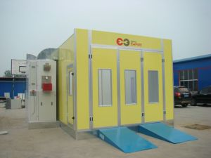 Ce Approved Water Curtain Spray Booth Car Spray Booth Oven pictures & photos