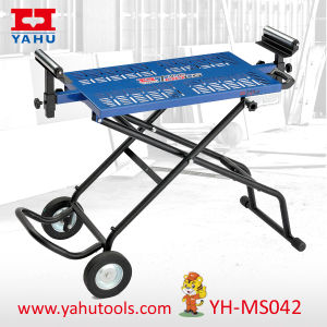 Professional Mobile Portable Rolling Universal Miter Table Saw Stand pictures & photos