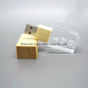 USB Flash Drive Crystal Wood OEM Logo USB Stick USB memory Card Flash Disk USB Flash Card USB Flash Drive Thumb Memory Stick Pendrives pictures & photos