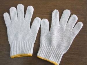 Cotton Safety Glove for Workers pictures & photos