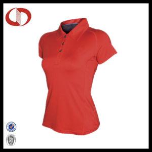 Plain Women Fitness Wear Sports Polo T-Shirt pictures & photos