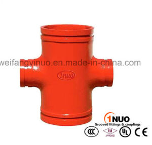 FM/UL/Ce Ductile Iron Standard Reducing Grooved Cross pictures & photos