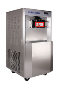 Soft Ice Cream Maker, 3 Flavor Soft Ice Cream Machine with Pre-Cooling pictures & photos