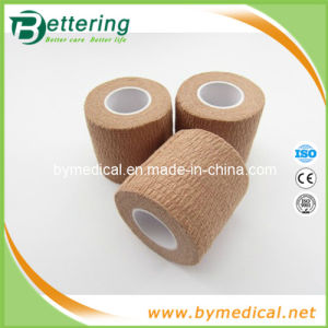 Skin Colour Sports Cotton Elastic Adhesive Bandage pictures & photos